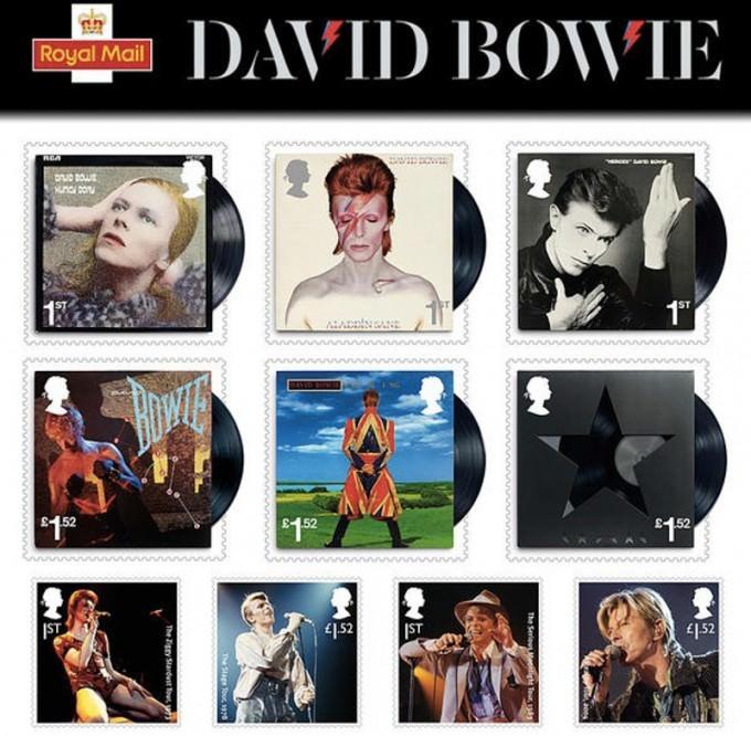 David Bowie francobolli